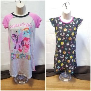 Other - Set of 2 Nightgowns My Little Pony & Emoji #10NG01